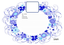 spring flower circle wreath swirl.eps