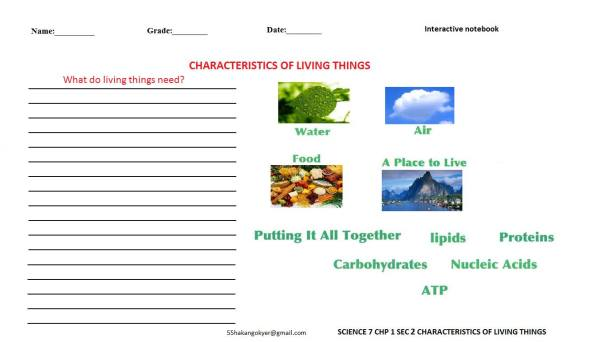 SCIENCE-7-CHP-1-2-characteristic of living-things